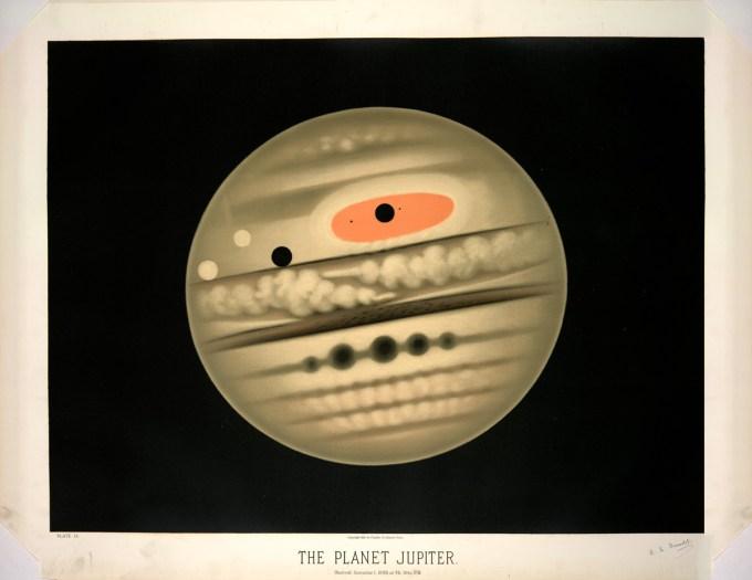 The planet Jupiter, observed November 1, 1880, 9:30 P.M.