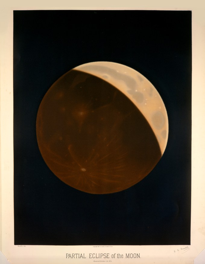 Partial eclipse of the moon, observed October 24, 1874