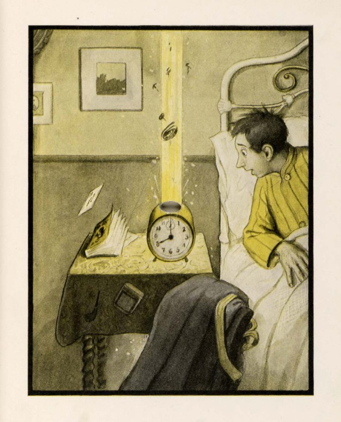 Illustration by Peter Newell from The Rocket Book, 1912