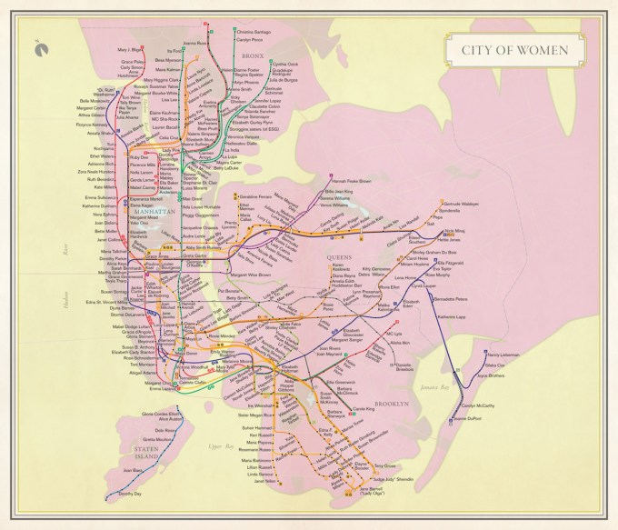 Cartography: Molly Roy; subway route symbols © Metropolitan Transit Authority