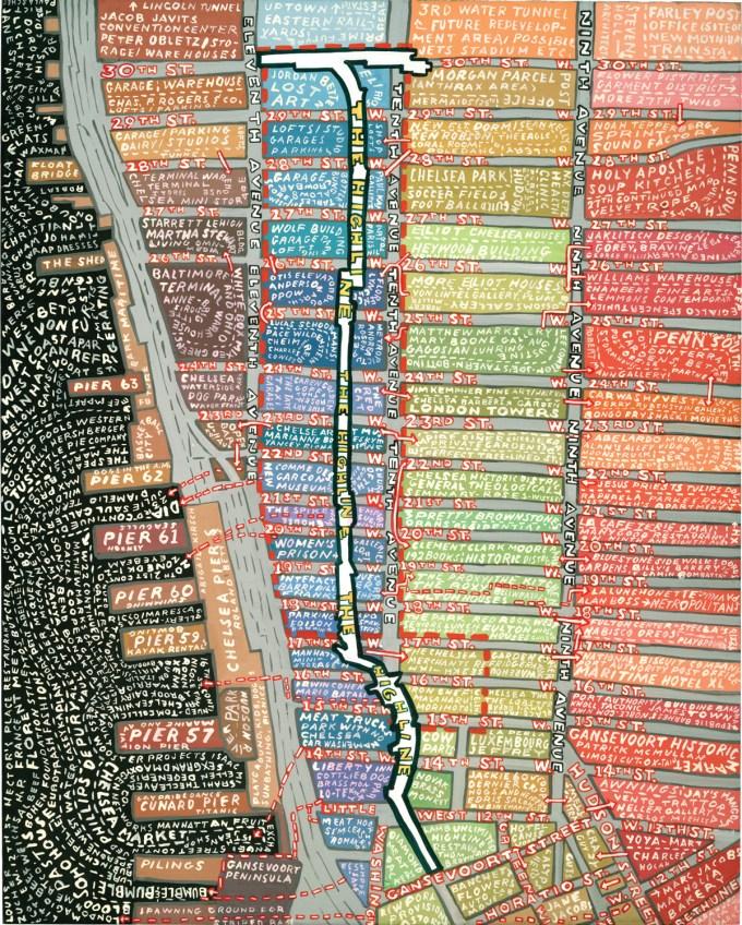 Paula Scher, High Line, 2005