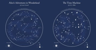 Literary Constellations: Astronomy-Inspired Visualizations of the Opening Sentences of Beloved Books
