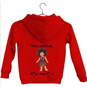 Red girls hoodie