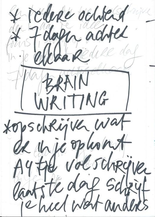 brainwriting, schrijven, creatief, brainstormen, methode, hersenschrijven, hersenhoos, creatief, uitdaging, doorgaan, opschrijven, verzinnen, doorgaan, blijven schrijven, iedere dag