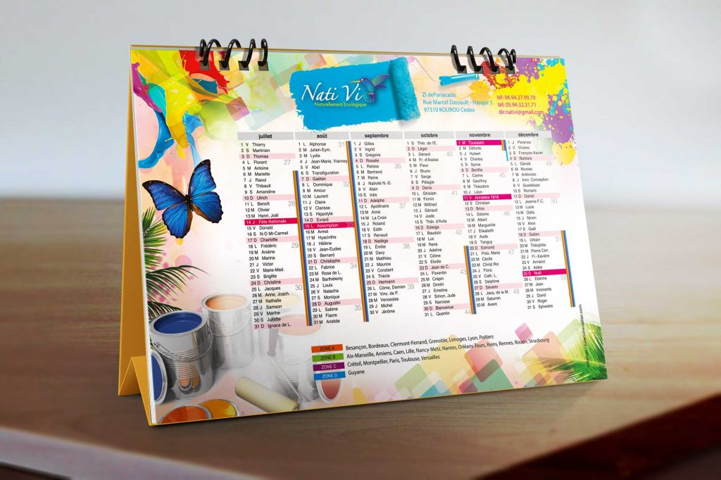 creation d'un calendrier