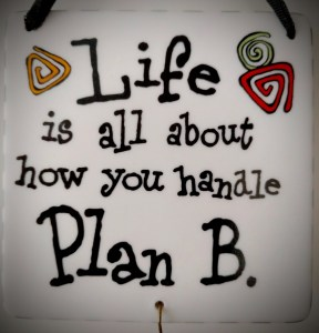 Life is all about how you handle Plan B