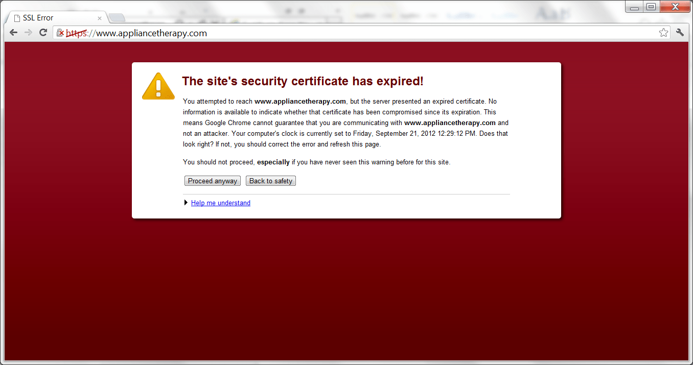 ITOps: Expired Certificate