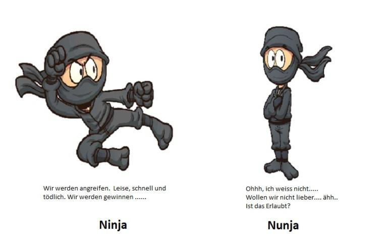 Ich – Welt: Ninjas oder Nunjas?