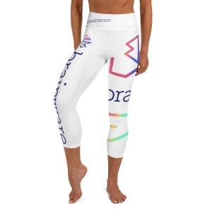 Brainware All Over Print Yoga Capri Leggings