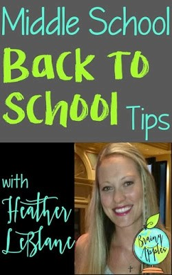 Back to School Tips for Middle School