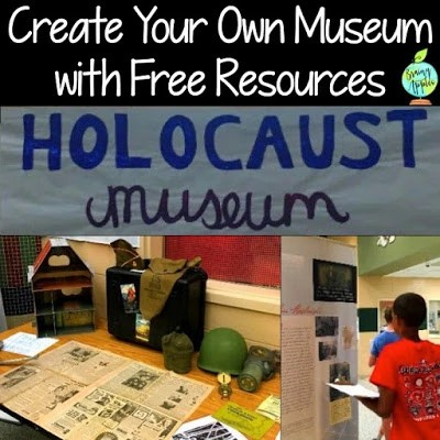 Learn how to create a Holocaust museum at your school using FREE resources! Perfect for middle school and high school social studies classes. Ideas shared can be used for any history topic. #brainyapples #politicalcartoon #primarysource #socialstudies #history #middleschool #highschool