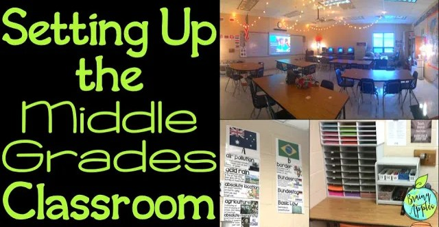 Tips and ideas for classroom organization for middle school. You can use these tips any time, but especially during the back to school time! #brainyapples #classroomorganization #backtoschool #socialstudies #history #middleschool #highschool