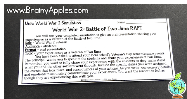 Learn how to create and use social studies simulations in the middle and high school classroom and homeschoolers. You can also download a free history simulation game about the Battle of Iwo Jima during World War 2. Students love learning about history using simulation games! #brainyapples #simulations #socialstudies #history #middleschool #highschool