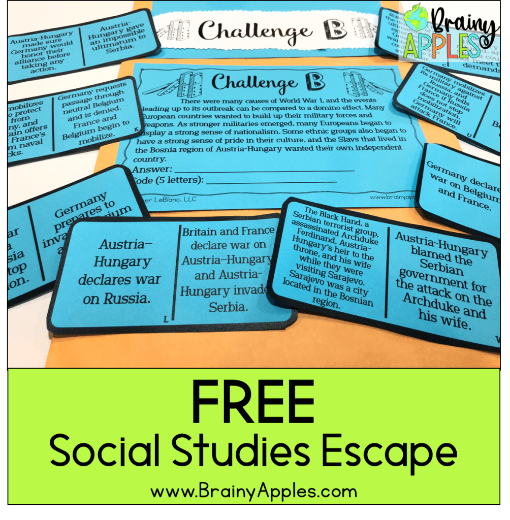 free history escape for the secondary social studies classroom