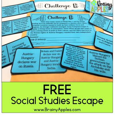 ESCAPE ROOMS | 7 WAYS TO STEP AWAY FROM THE LECTURE PODIUM & REVITALIZE YOUR SOCIAL STUDIES CLASSROOM