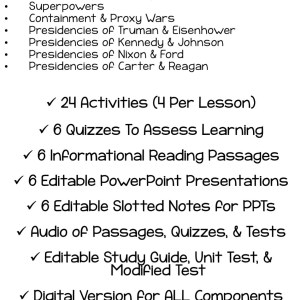 The Cold War No Prep Unit