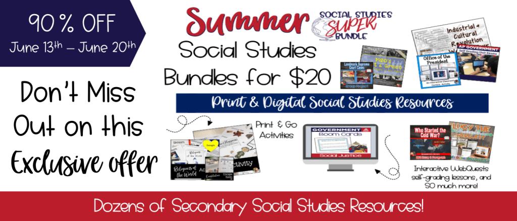 Social Studies Super Bundle Sale