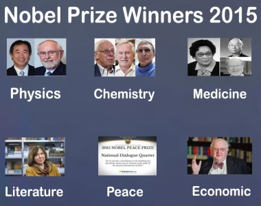 Nobel Prize Winners 2015 - All You Need to Know