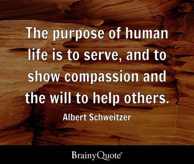 Albert Schweitzer The Purpose Of Human Life Is To Serve