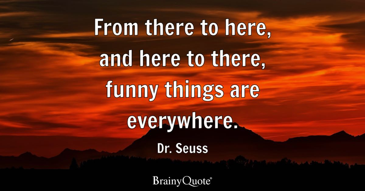 From there to here  and here to there  funny things are everywhere     Quote From there to here  and here to there  funny things are everywhere