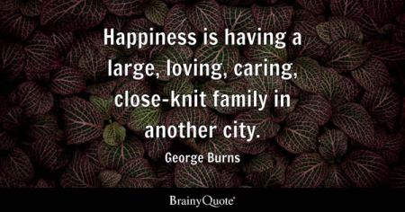 Family Quotes   BrainyQuote Happiness is having a large  loving  caring  close knit family in another