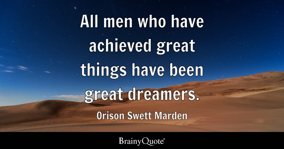 All men who have achieved great things have been great ... on Outstanding Things  id=69393