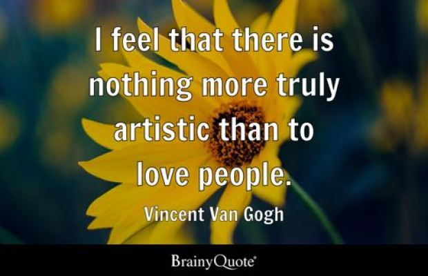Van Gogh quote on love.