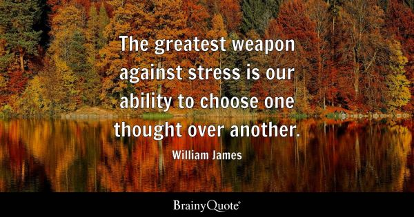 The greatest weapon against stress is our ability to ...