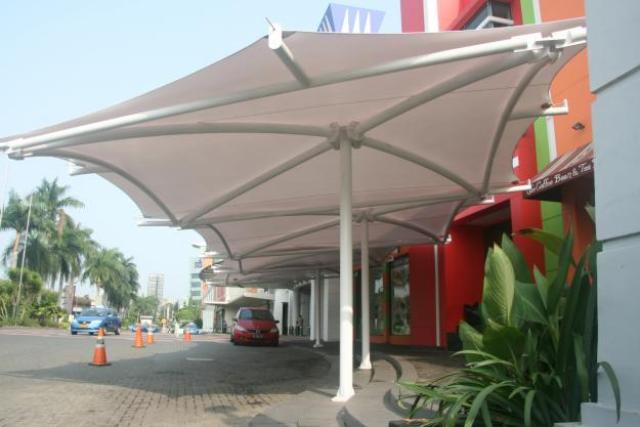 kanopi membrane desain dan model