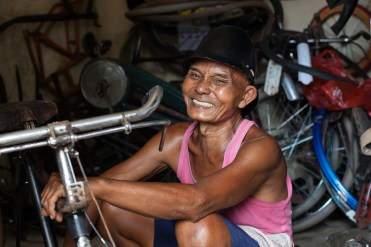 A morning spent with this man led to some nice photographs inside his bicycle workshop 2