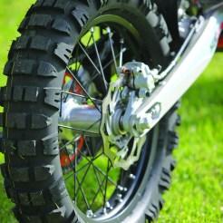 Mitas E09 Tyres last a long time.