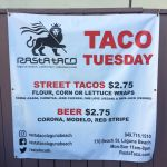 Rasta Taco Taco Tuesday Menu