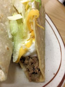 Hacienda la Joya Mission Viejo Taco Tuesday Crispy Sonora Taco With Sour Cream and Cheese