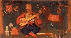 Kozak Mamai; Anon. 19th cent.; Dnipropetrovsk Historical Museum