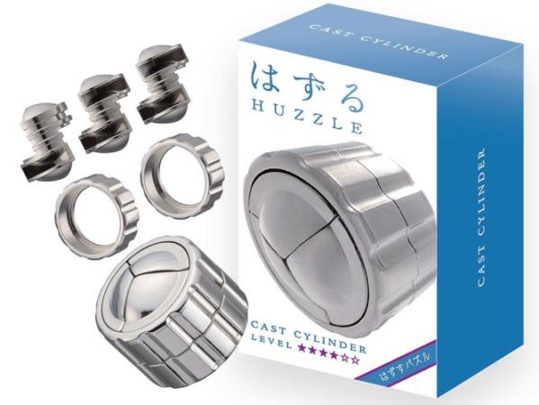 Hanayama Huzzle Cylinder Cast Metal Puzzle