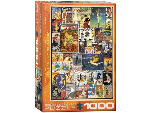 Vintage Bicycle Posters 1000 piece Jigsaw