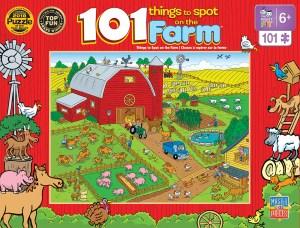 On a Farm Puzzle 101 pc puzzle