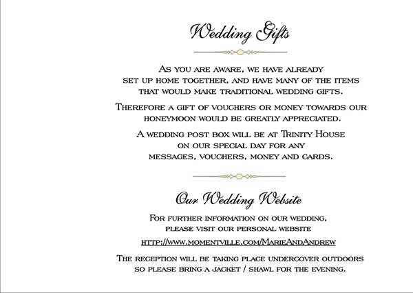 Wedding Money Poem Polite Way Of Asking For Rather Than