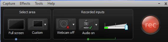 camtasia recording choices