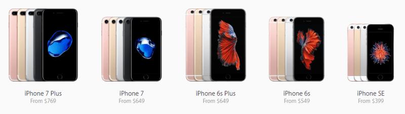 أسعار آيفون 7 و آيفون 7 بلس والألوان المتوفرة