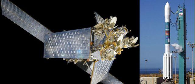 Satélite Iridium e Foguete Delta-7920-10C
