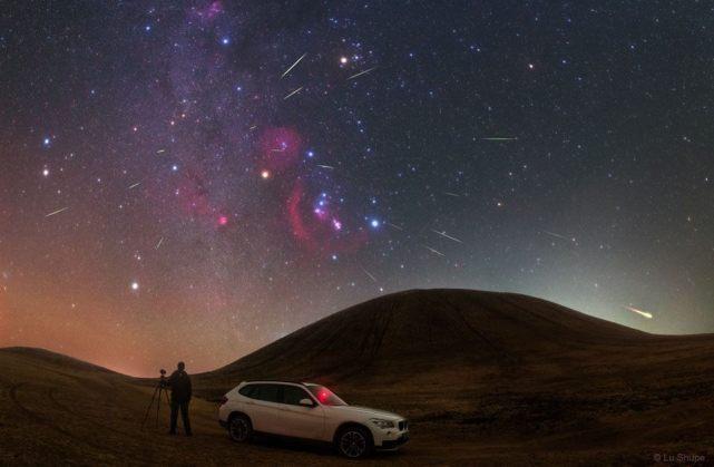 Orionídeos sobre a Mongólia - Créditos:Lu Shupei