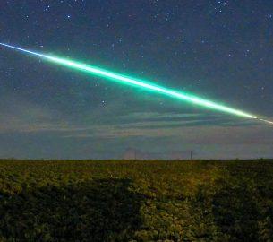 Detalhe da foto do meteoro feita a partir de Primeiro de Maio, PR - Créditos André Casagrande