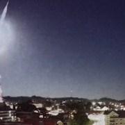 Meteoro visto em Canela - Créditos: Bitcom / climaaovivo.com.br