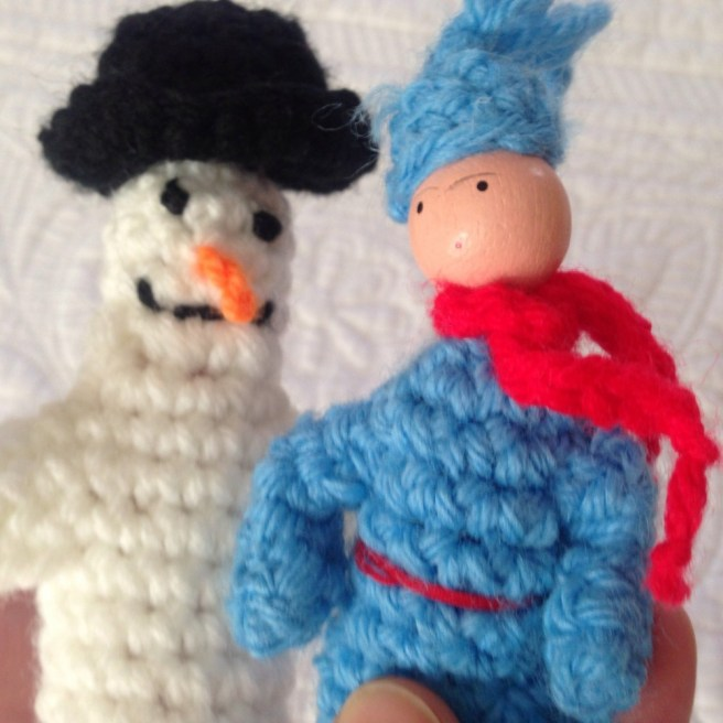 Frosty and Friend Puppets