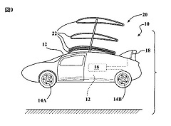 空飛ぶ自動車の図面