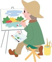 絵を描く人のイラスト
