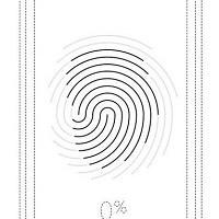 指紋認証機能付き電子計算機の図