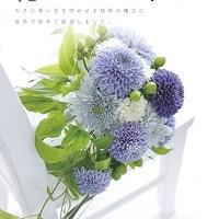 青い菊のリーフレット表紙