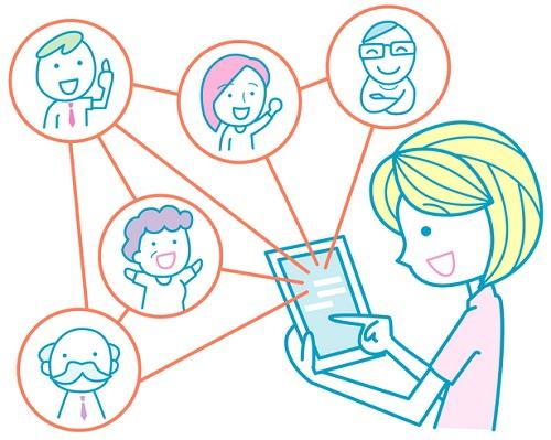 人的ネットワークのイメージ